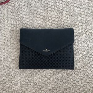 Black Kate Spade clutch with gorgeous detailing